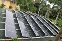Sandals solar installation on their villa in Jamaica