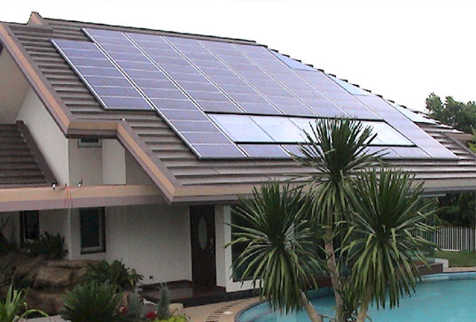 Solar powered houses Solar panel installations and costs