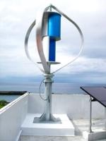 VAWT MagLev wind turbine on roof
